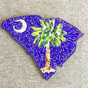 palmetto state pride glass mosaic glass art