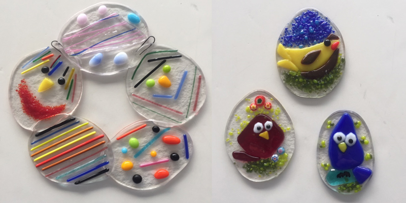 Sample Easter fused glass